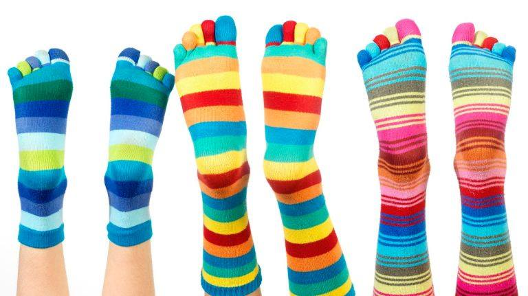 Wacky and mismatched socks.