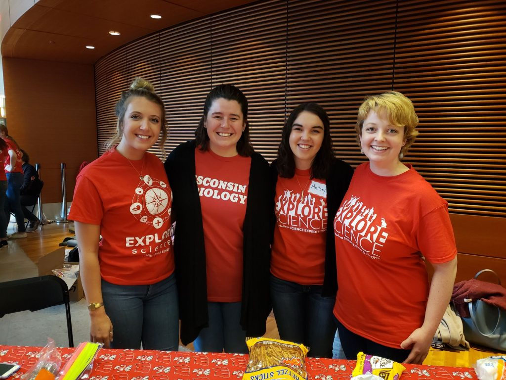 AuD students at the UW-Madison Science Expendition.